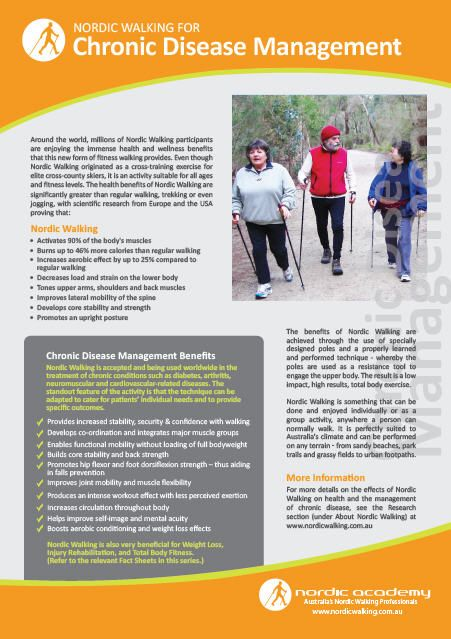 Nordic Walking Fact Sheet on Chronic Disease Management  www.nordicacademy.com.au