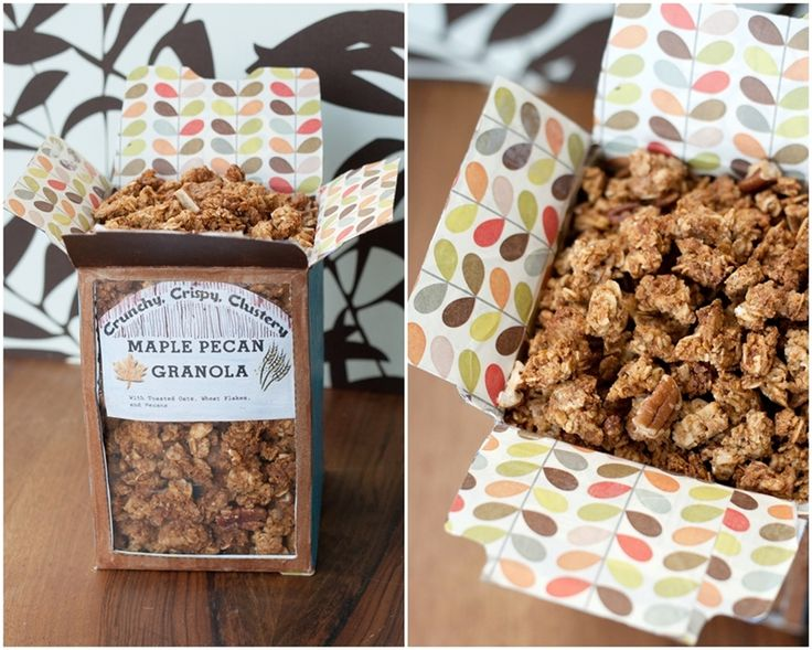 Crispy, Crunchy, Clustery; Maple-Pecan Granola with adorable homemade ...