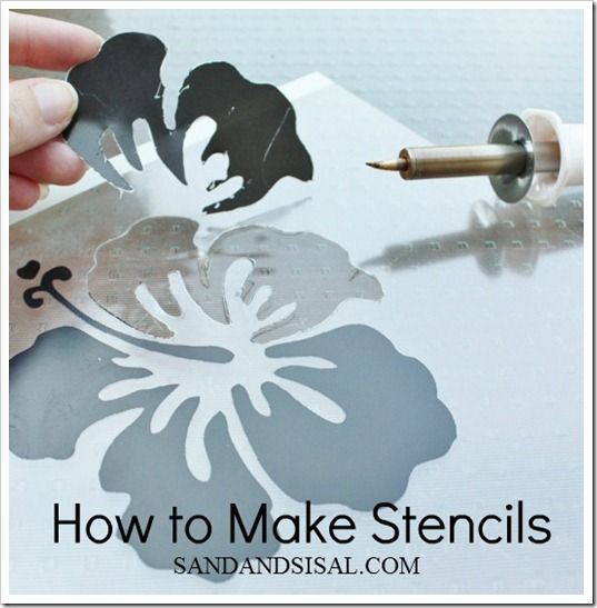 Stencils {How to Make Stencils} http://sandandsisal.com/2012/06/stencils-how-to-make-stencils.html