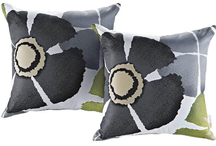 Patio Botanical Indoor / Outdoor Throw Pillow