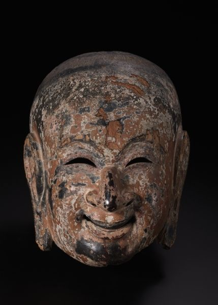 Suikoju: Gigaku Mask | Suikoju: Gigaku Mask, 710-794      Japan, Nara Period (710-794)      paulownia wood, lacquered and painted, Overall - h:28.00 w:21.00 d:18.50 cm (h:11 w:8 1/4 d:7 1/4 inches). John L. Severance Fund 1949.158