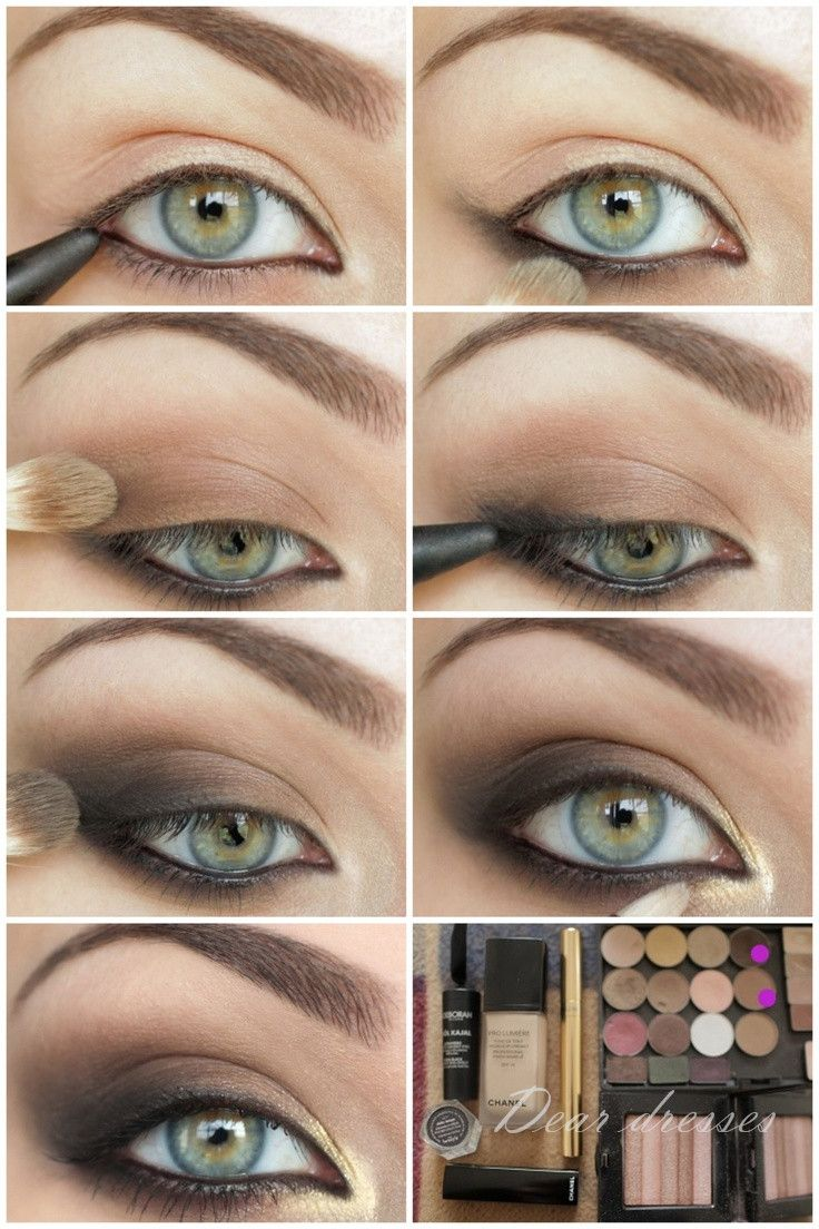 Smokey Eyeshadow Tutorial: Eyeshadow, Makeup, Steps Of Make Up