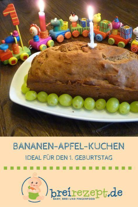 Bananenkuchen mit Apfel – Idealer 1. Kindergeburtstagskuchen   – Cake recipes