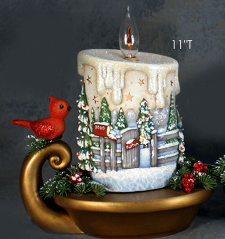 Painting Church In Snow Religious Christmas Ceramic: 527 Best Cerámica Images On Pinterest