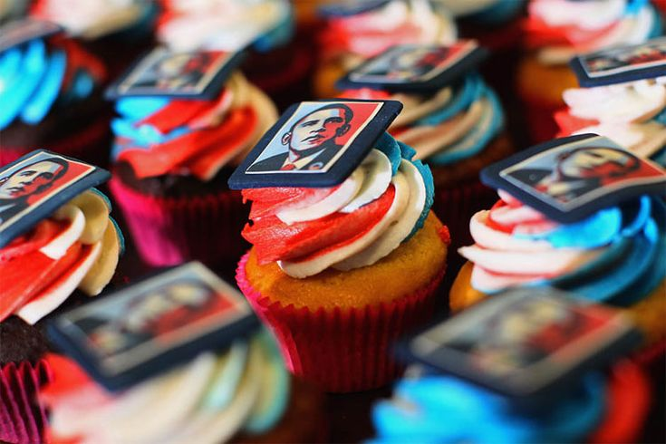 presidential birthday cupcakes