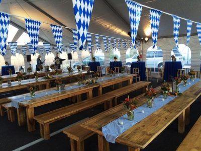 Oktoberfest Farm Table Party Decor