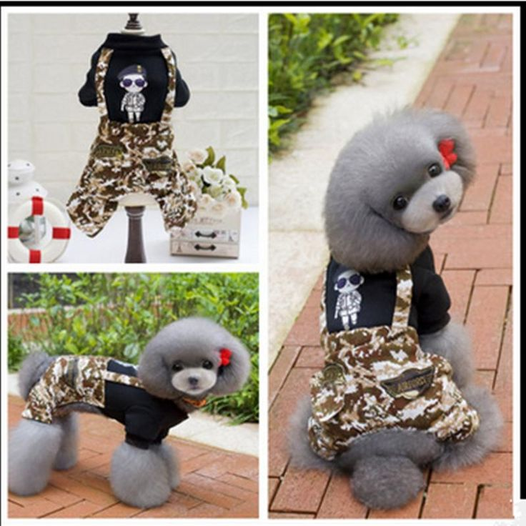 New Autumn And Winter cute Pet Clothes Dog clothing Four Legs Camouflage Clothes Fashion Dog Jumpsuits Dog Bib Pet Products