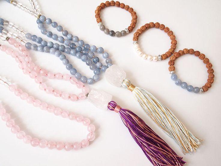 Pure #mala collection from Paprika Yoga  108 beads mala & bracelet thepaprikashop.com