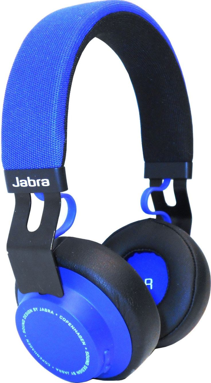 Jabra Move Headset - Stereo - Blue - Mini-phone - Wired/Wireless - Bluetooth - 32.8 ft - 29 Ohm - 20 Hz - 20 kHz - Over-the-head - Binaural - Circumaural - 3.94 ft Cable - Omni-directional Microphone