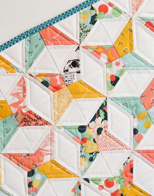 Patchwork/Quilt moderne et géométrique / Modern geometrical quilt
