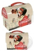 Coca Cola Tin Lunch Box : Coke Why Go Thirsty : 1945 Slogan : Flower Girl Painting