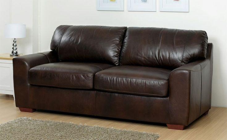 Aniline Leather Sofa Bed - Eaton