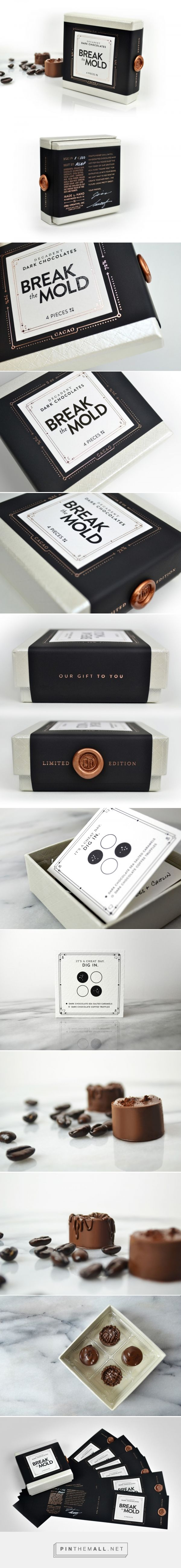 Break the Mold Limited Edition Chocolates - Packaging of the World - Creative Package Design Gallery - http://www.packagingoftheworld.com/2016/12/break-mold-limited-edition-chocolates.html