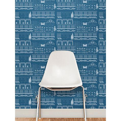 """Buy Mini Moderns """"Do You Live In A Town?"""" Wallpaper Online at johnlewis.com"""
