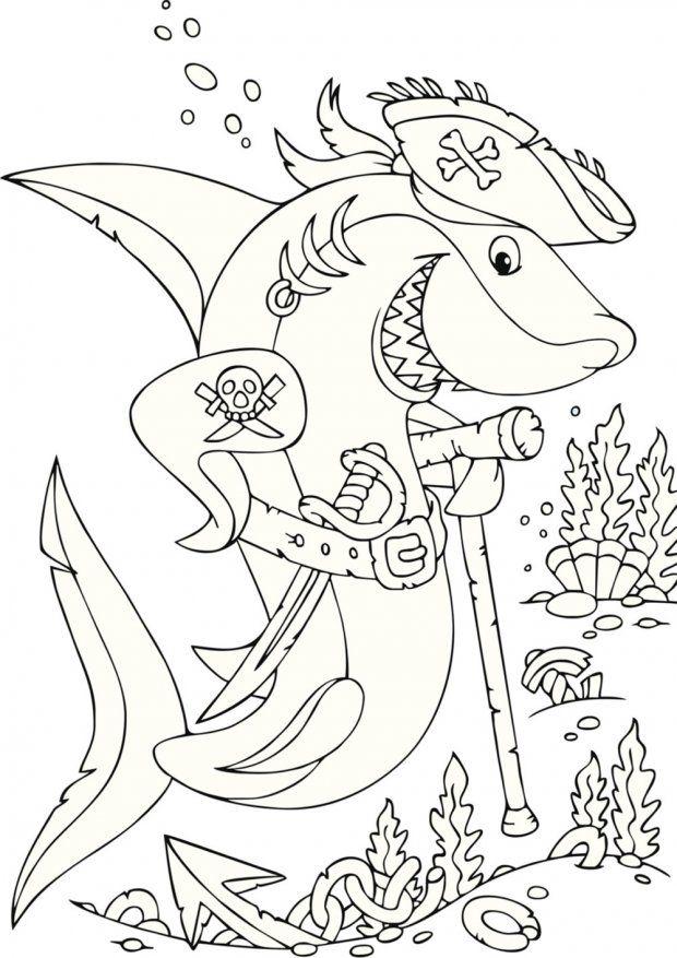 Les 25 meilleures id es de la cat gorie coloriage mer sur pinterest poisson colorier - Modele dessin requin ...