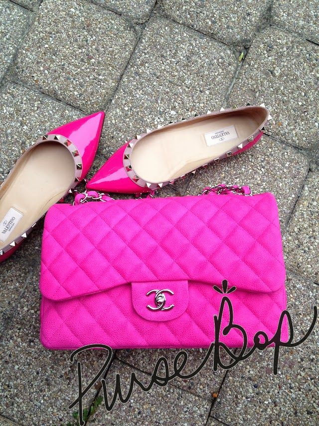 #Chanel #HotPink #Valentino http://www.pursebop.com/i-spy-with-my-little-eye-something-that-is-pink/