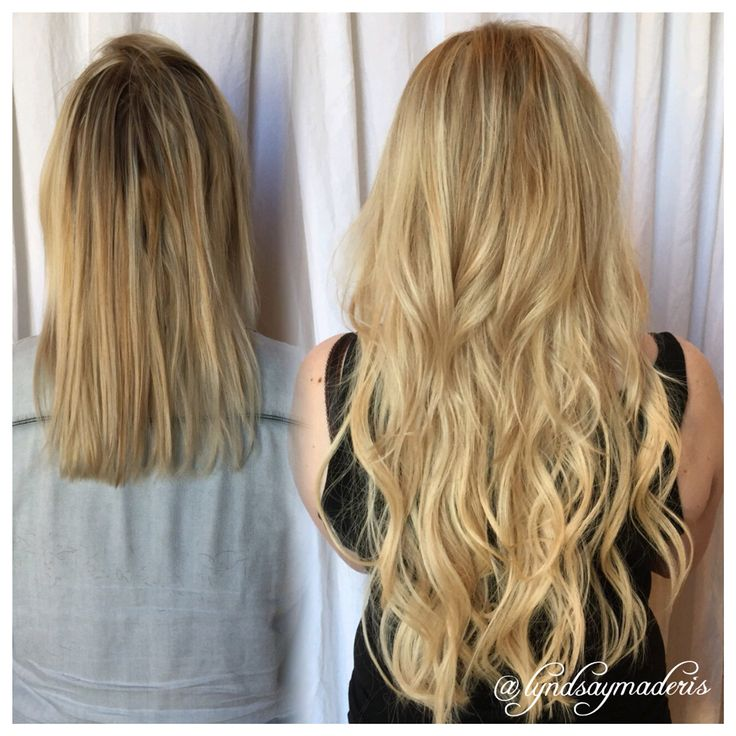 4 bundles of Great Lengths Hair Extendions to thicken and lengthen short, fine hair by Lyndsay Maderis (593)686-3261 @greatlengthsusa