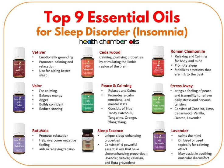 Essential oils to help with sleep