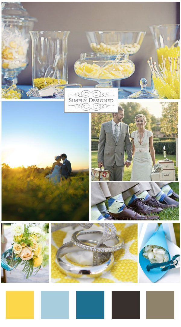 Find This Pin And More On Wedding Themes Colours Blue Yellow
