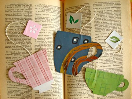 teacup bookmarks
