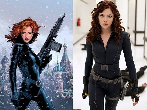 Female Comic Book Characters | Female Comic Heroes and Their Movie Twins | Dumage