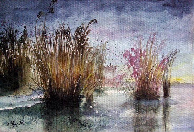 Aleksandra Zając, akwarela, winter