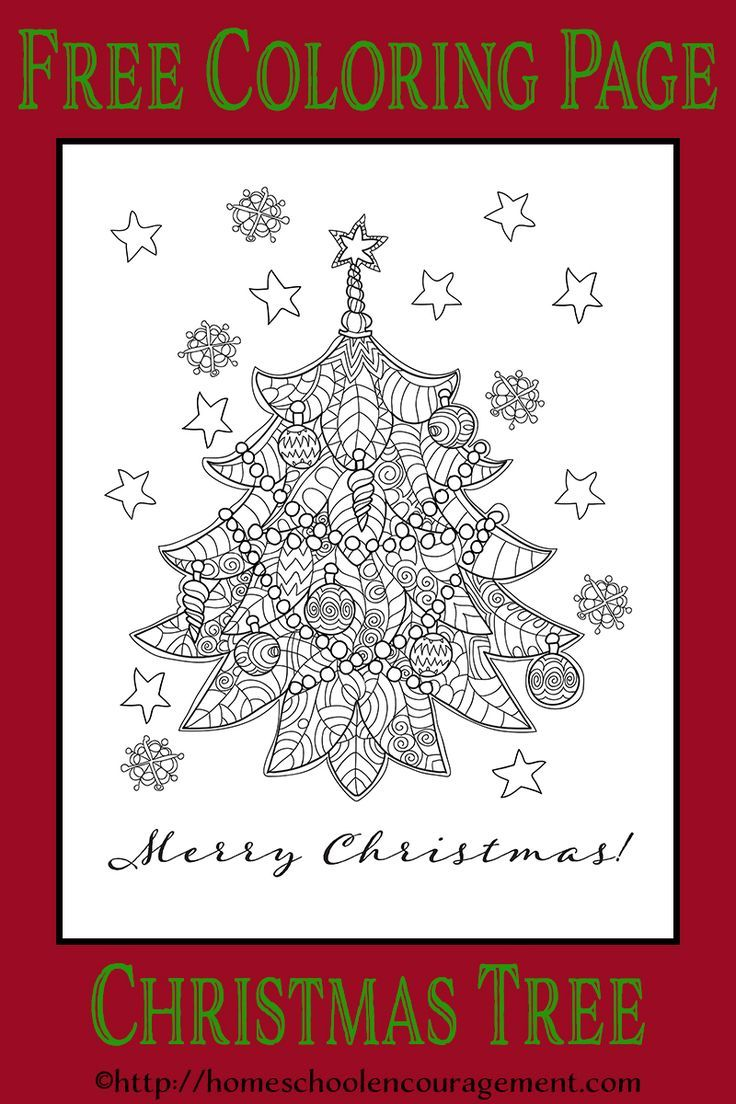 Coloring pages christmas tree blank christmas tree coloring pages - Free Christmas Tree Coloring Page