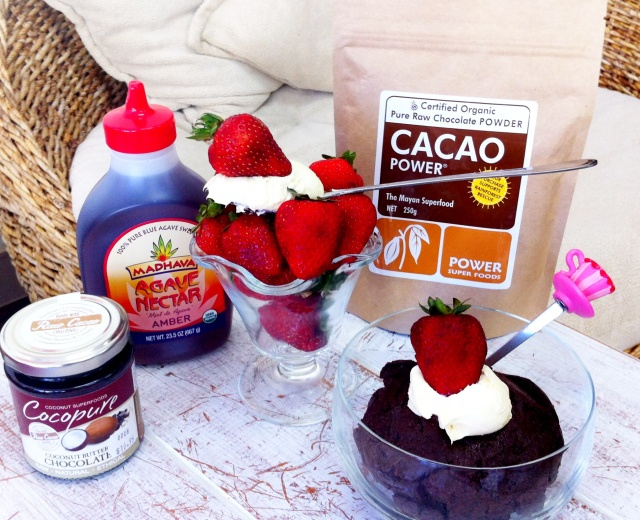 raw chocolate mouse pudding