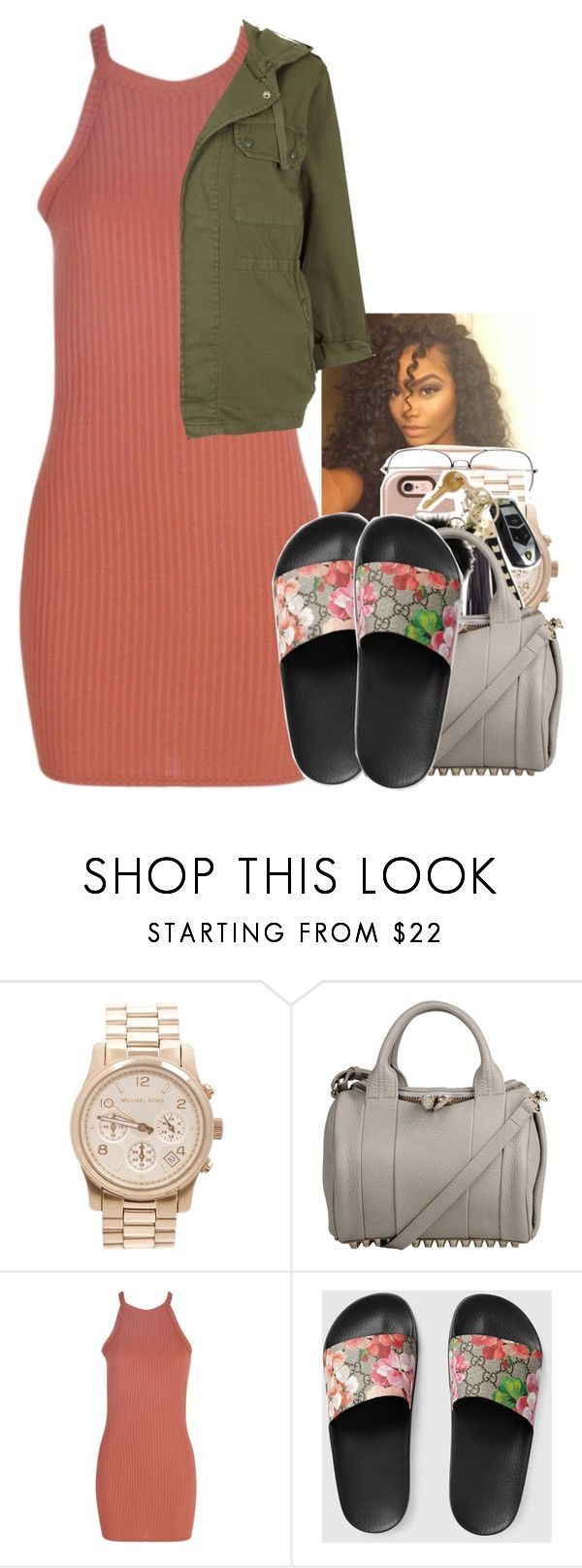 """Untitled #2034"" by toniiiiiiiiiiiiiii ❤ liked on Polyvore featuring Michael Kors, Alexander Wang, Boohoo, Gucci and Topshop"