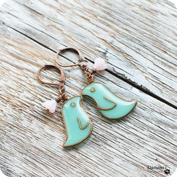 Bird earrings, Mint and Birds on Pinterest