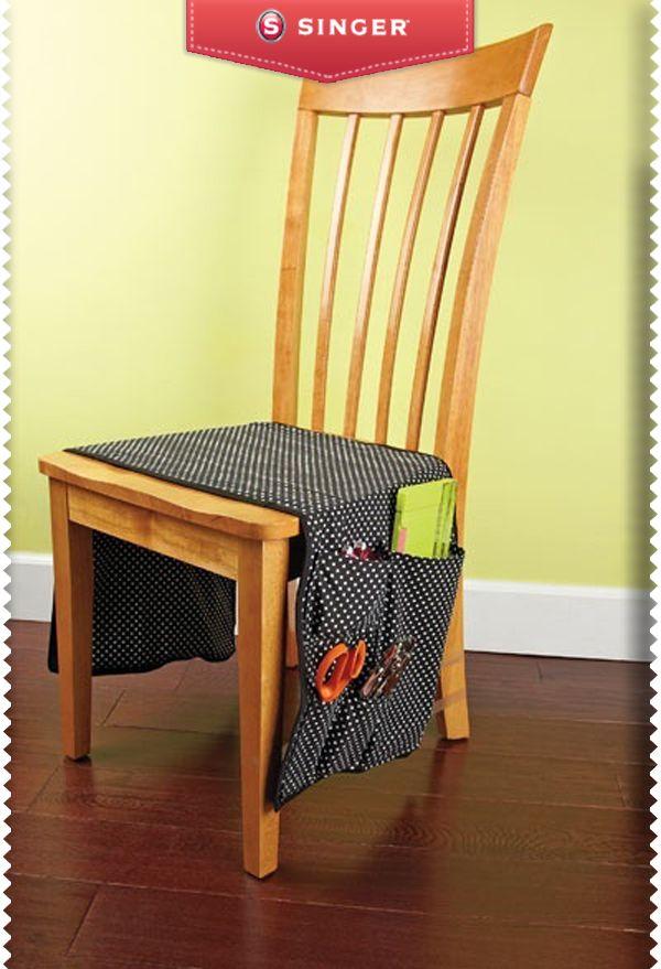 Alforjas para silla #fiebredemateriales #costura #Singer #dots