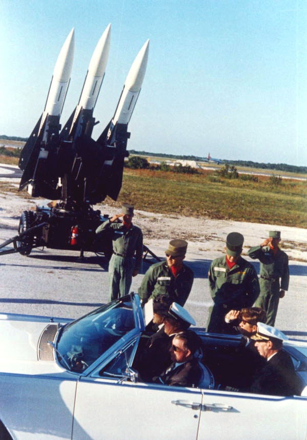 President John F. Kennedy inspecting missiles - Boca Chica Station, Florida