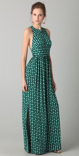Milly Elizabete Link Print Hostess Gown