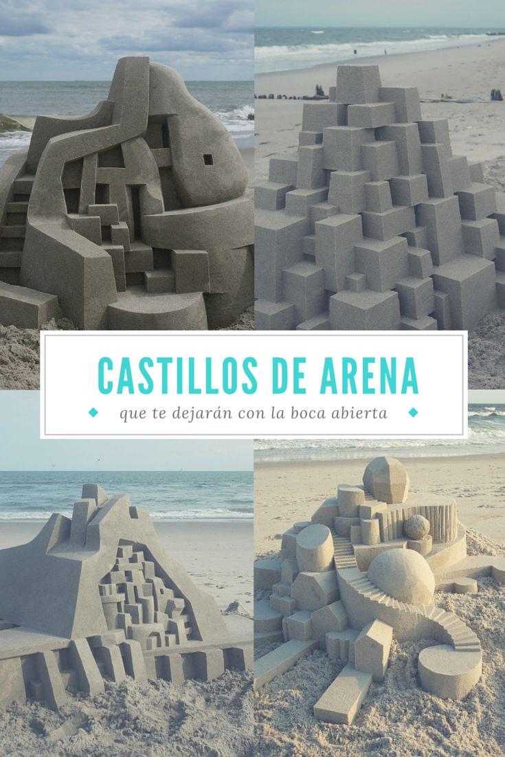El artista de castillos de arena del que escher se sentir a orgulloso verano playa