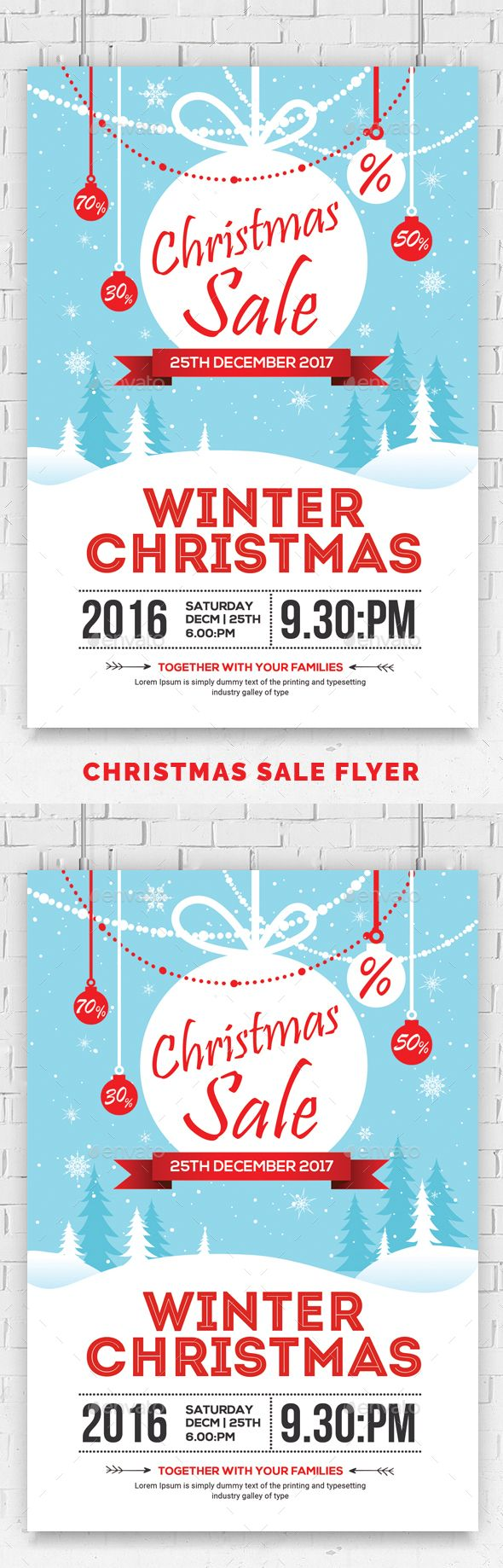 #Christmas Sale #Flyer Psd Template - Events Flyers