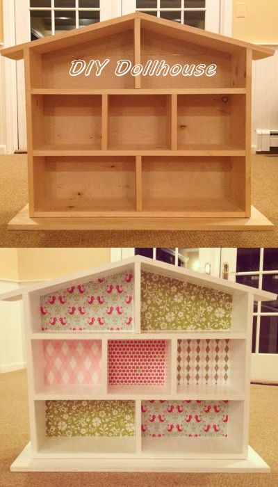 DIY dollhouse for Leahs 2nd birthday-adapted from design on YoungHouseLove