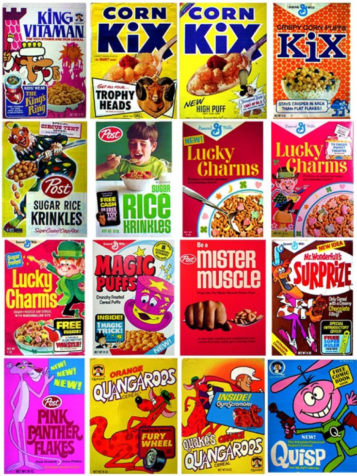 Vintage Cereal Boxes, man it would be so cool if i had these boxes, i see my favorite kix