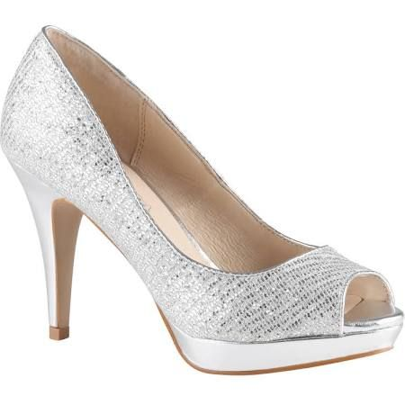 silver high heels - Google Search