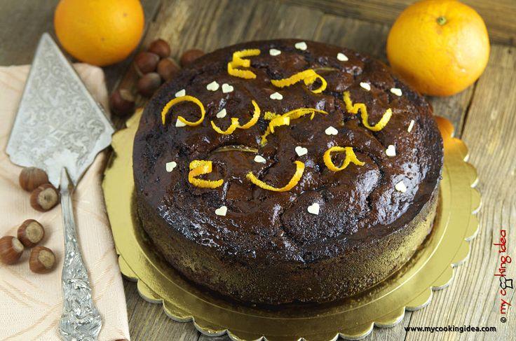 Torta al gianduia e arancia http://www.mycookingidea.com/2017/02/torta-al-gianduia-e-arancia/