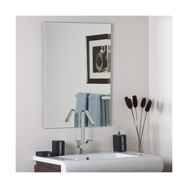 Decor Wonderland Frameless Square Beveled Mirror ($118) ❤ liked on Polyvore featuring home, home decor, mirrors, frameless beveled mirror, modern wall mirrors, beveled wall mirror, frameless mirror and beveled mirror