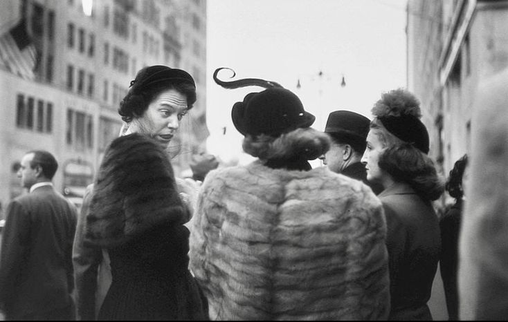 """""""Hats"""", a photo by Saul Leiter, New York, 1952"""