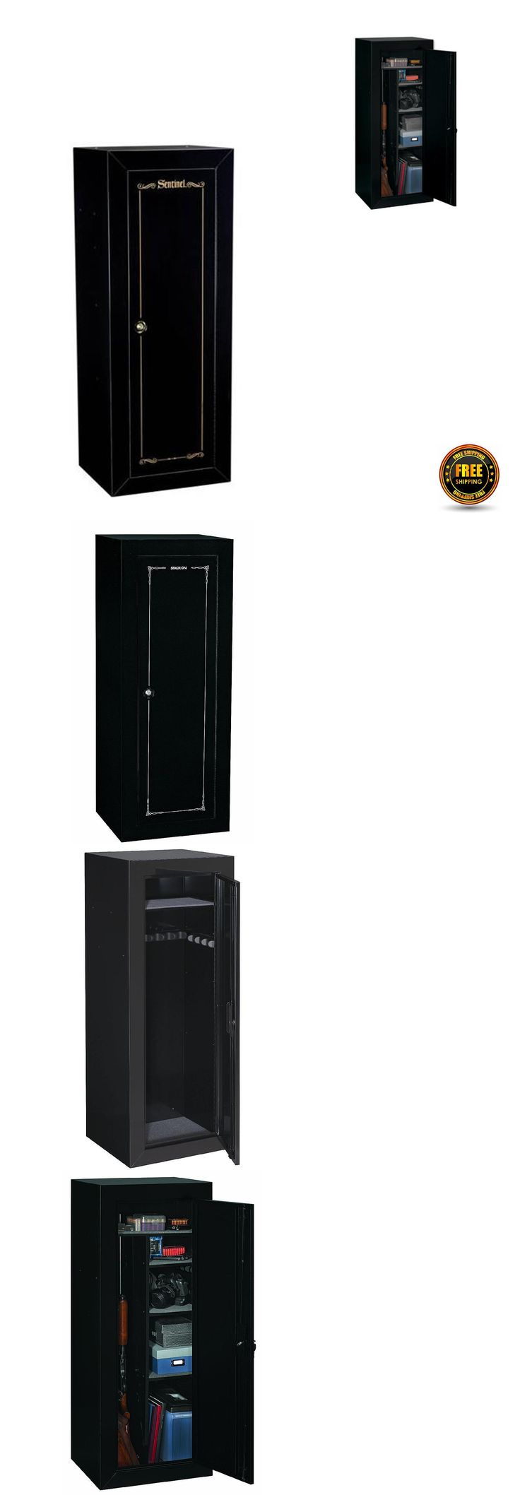Cabinets and Safes 177877: Stack On Gun Safes And Vaults For Home 18 Steel Security Cabinet Storage Rifle BUY IT NOW ONLY: $211.96