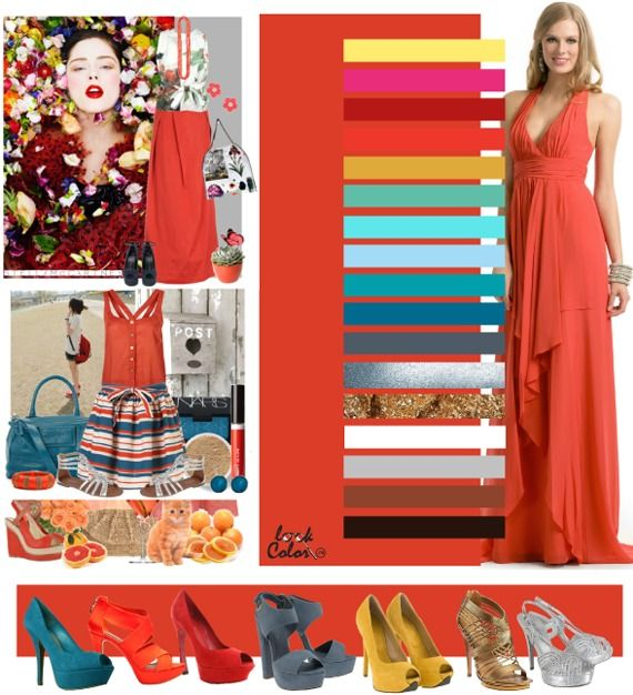 deep coral: color combinations