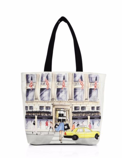 Saks Fifth Avenue Collection - #SaksStyle Store Front Canvas Tote