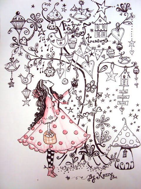 I like this page. A drawing of your Self looking up into a tree full of things… …