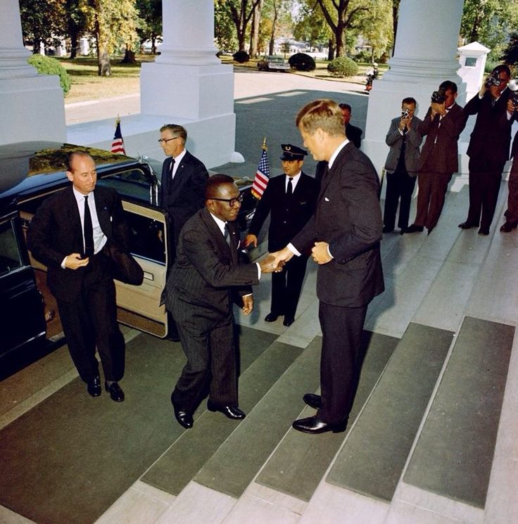 1961. 19 Octobre. Presidents Tubman (Liberia) and Kennedy