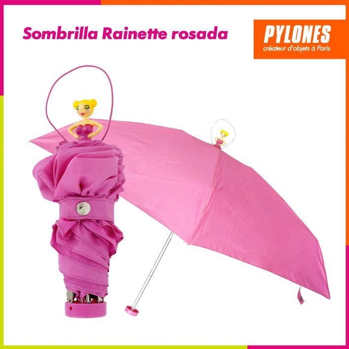 Sombrilla Rainette rosada #Regalos #Novedades  @Pylonesco
