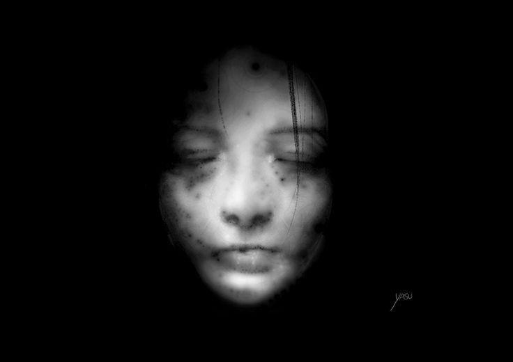 Mother_by yasu    https://yasu.artstation.com/yasu  #yasu #mother #face #concept #grayface