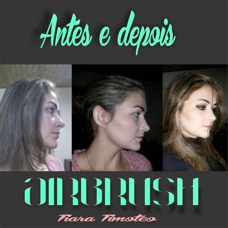 Antes e depois aplicação de airbrush :) inlove!