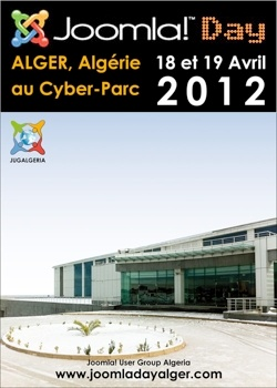 Joomla! Day Alger will take place on Apr 18th and 19th 2012, from 8.30 am to 5.30 pm during a Technological Section of Sidi-Abdallah Cyber-Park